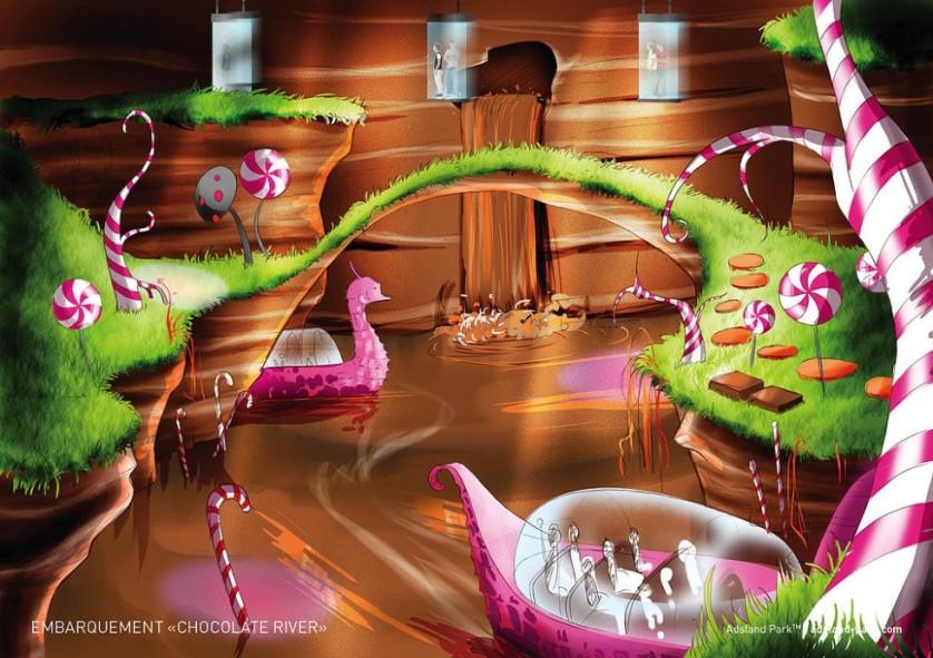 Rivière de chocolat Wonka