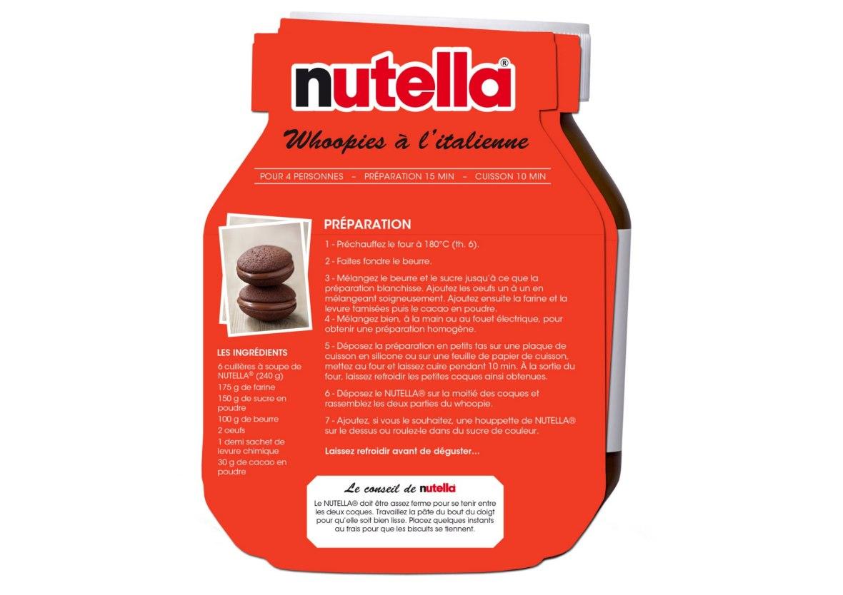 Nutella, recette, chocolat, woopies, macarons, biscuit, ferrero, facile
