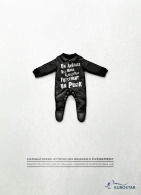 Eurostar advert for the pregnancy of the Duchess