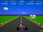 Pole Position et sa pancarte publicitaire pour un autre jeu de l'éditeur