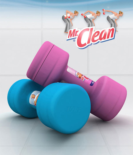 Packaging créatif Mr Propre / Mr Clean