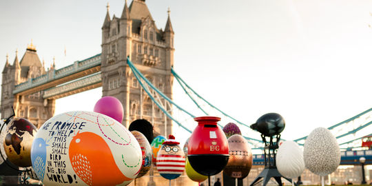 Action évènementielle Fabergé pour Pâques à Londres