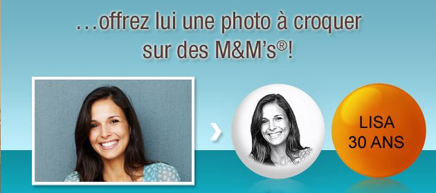m&m's personnalisation photo