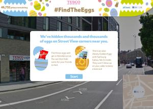 Opération marketing Tesco pour Pâques sur Street View