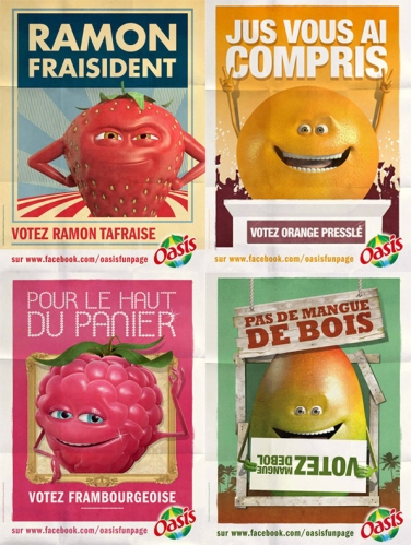Oasis Fruit of the year avec mangue de bol, ramon ta fraise, Framboisie, Orange presslé