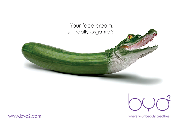 Byo's Ad for organic face cream