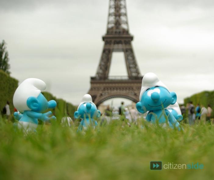 journée mondiale schtroumpfs à Paris