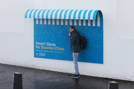 IBM smart billboards smart cities street marketing
