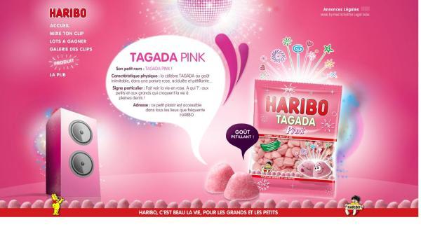 lancement tagada pink haribo