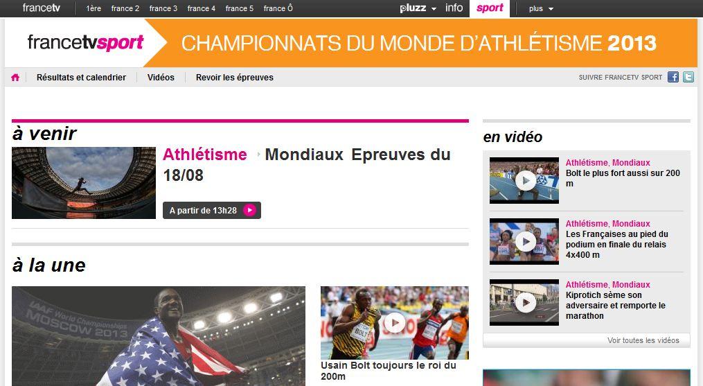 france tv championnats monde athlétisme