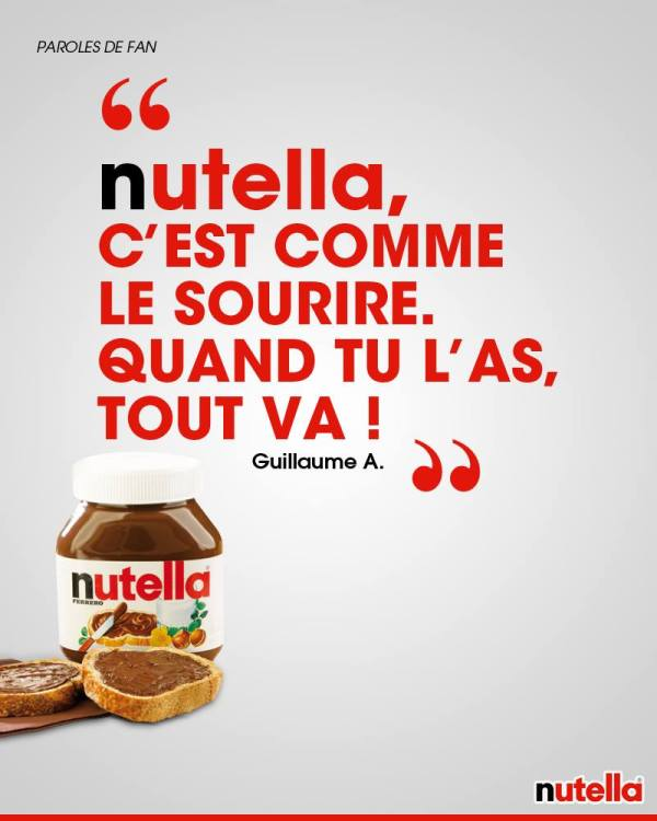 nutella quand tu l'as tout va