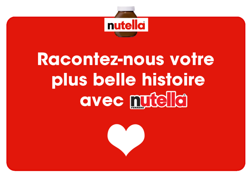 nutella storytelling on fb