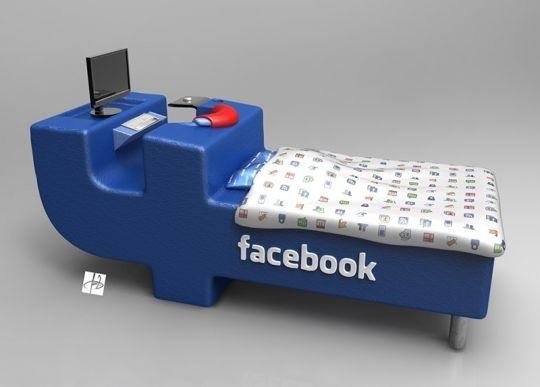 Lit-Facebook_2 produits dérivés réseaux sociaux