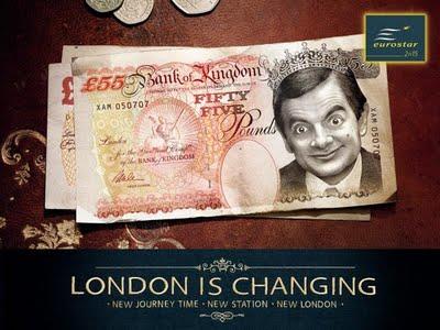 eurostar humour campaign Mr Bean london