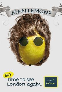 john lenon beatles advertising  humour campaign england