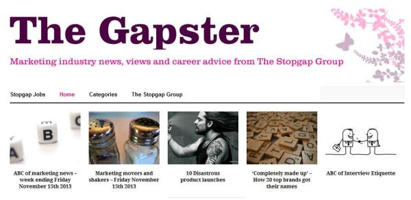 stop gap the gaspter blog