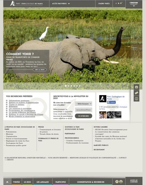sit einternet parc zoologique paris vincennes