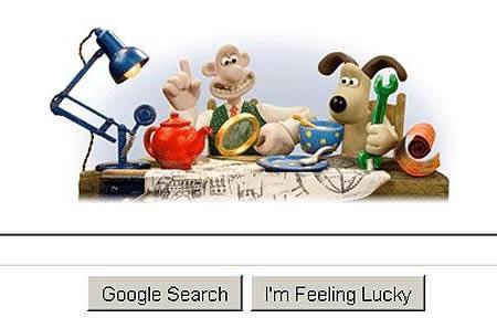 Doodle pour les 20 ans de Wallace et Gromit