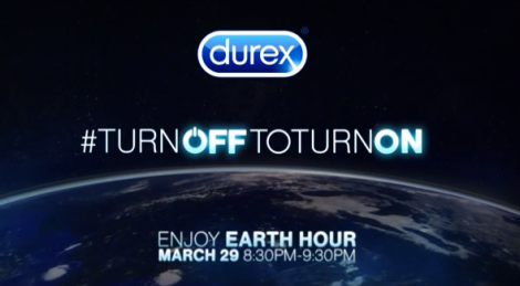 durex earth hour turn off to turn it on