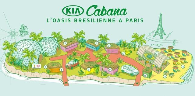 Kia Cabana brésil coupe du monde Paris