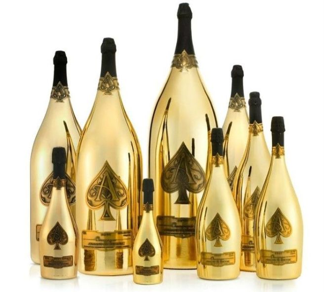 packaging champagne coloré as de pique