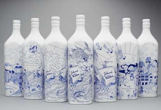 packaging bouteille coloré chine street art