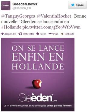 Gleeden_Hollande