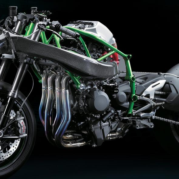 Vue technique de la Kawasaki H2R