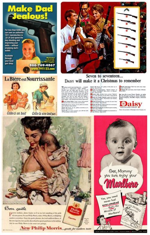 publicite-enfant-tabac-alcool-arme