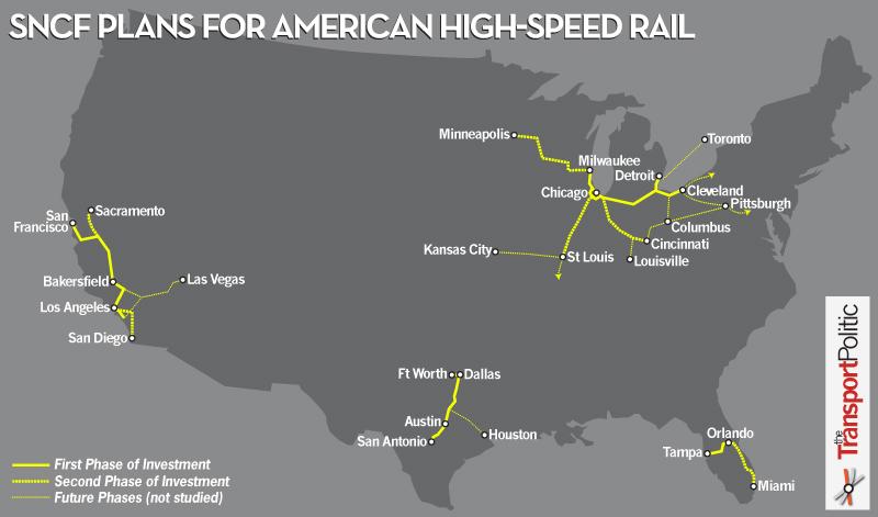 Projet de la SNCF aux US