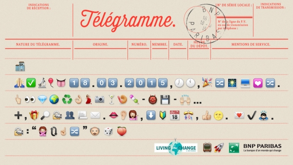telegramme Living the Change