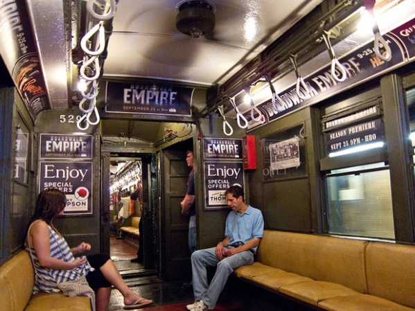 Boardwalk Empire Vintage NYC Subway Train Promo