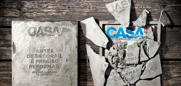 casa abril magazine decoration concrete bloc marketing operation