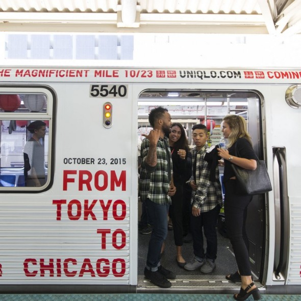 uniglo from tokyo to chicago street marketing opening store