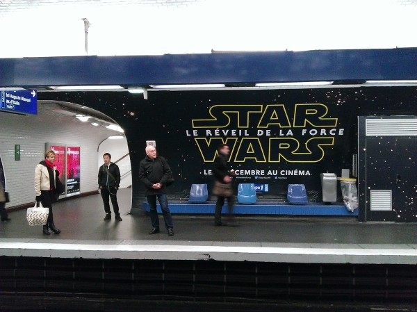 star wars 7 métro paris