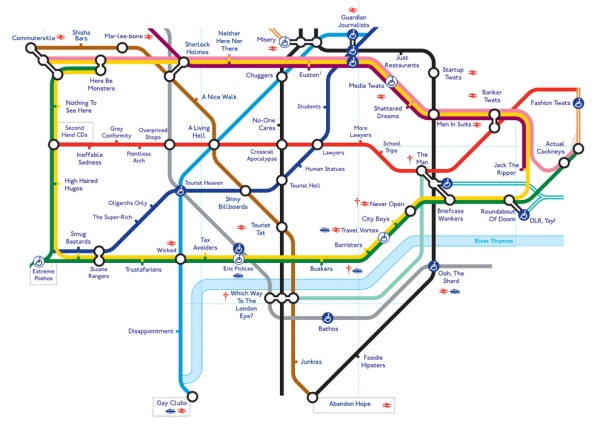tube map telling the truth
