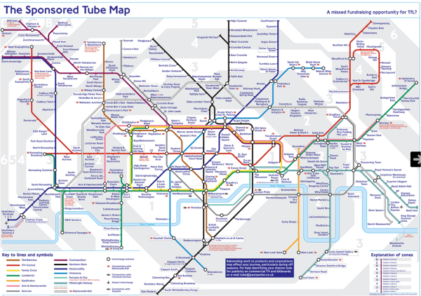 tube map brands funny
