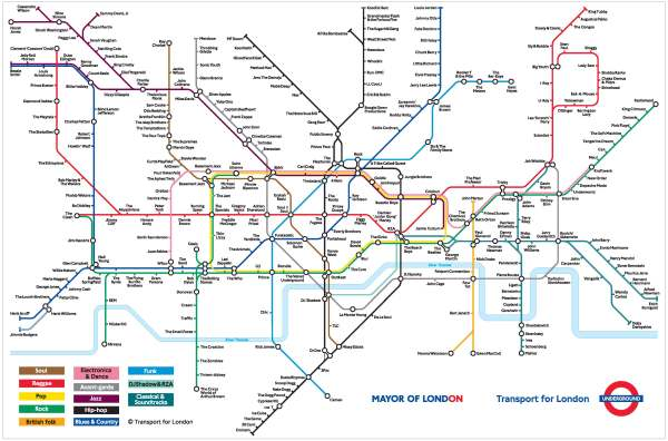 tube music map fun bands songs
