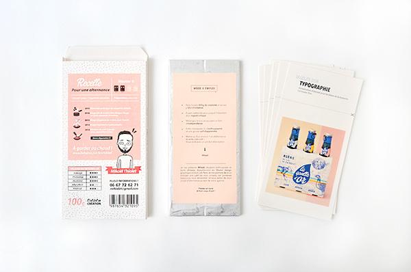 cv tablette de chocolat original créatif graphiste paques chocolat